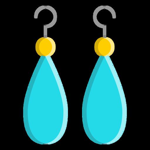 Blue dangle earrings vector Transparent PNG