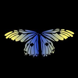 Diseño de mariposa azul detallado