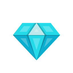 Blue diamond stone vector