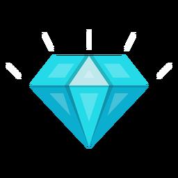 Vetor de pedra de diamante azul