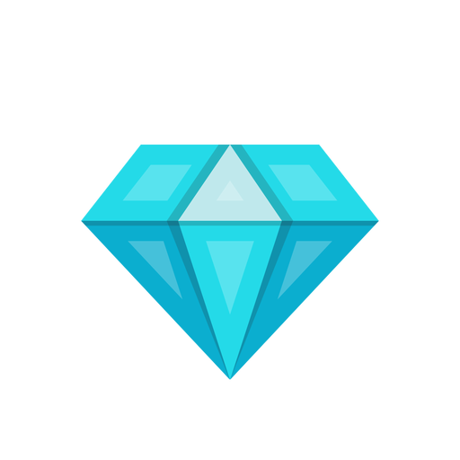 Blue diamond stone vector Transparent PNG