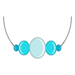 Vector de collar de piedras preciosas azul