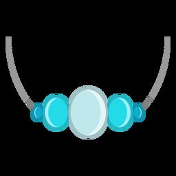 Vetor de colar de pingente de gemstone azul