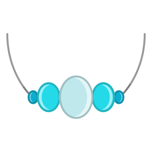 Blue gemstone pendant necklace vector Transparent PNG