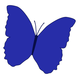 Blauer gemusterter Schmetterlingsvektor
