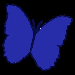 Vetor de borboleta azul estampado