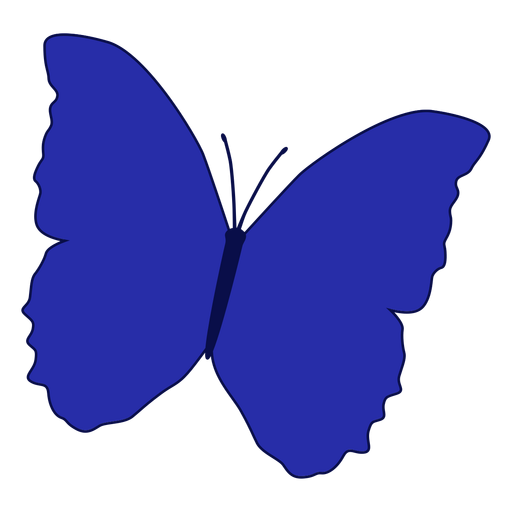 Blue patterned butterfly vector Transparent PNG