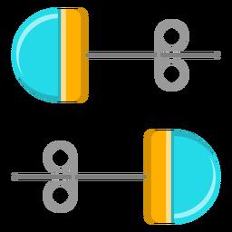 Aretes azules vector