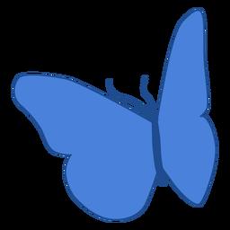 Blaue Flügel Schmetterling Symbol