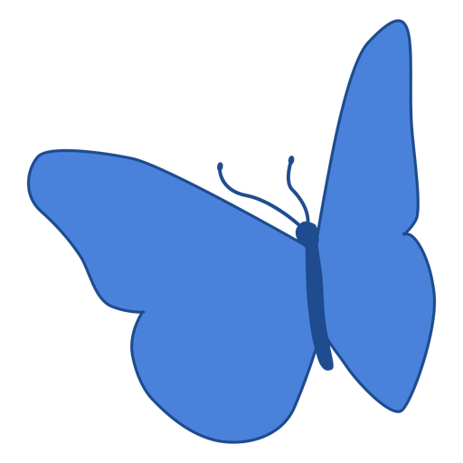 Blue wing butterfly icon Transparent PNG
