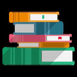 Libros apilados vector