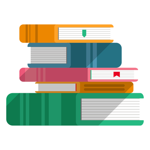 Books stacked vector