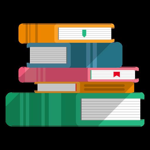 Libros apilados vector Transparent PNG