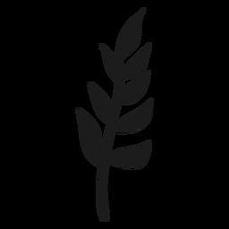 Rama con icono de hojas