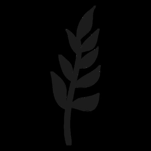 Rama con icono de hojas Transparent PNG