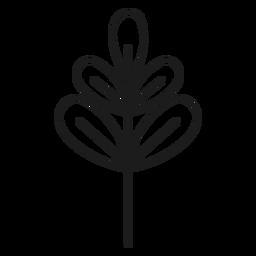 Rama con icono de hojas palmadas.