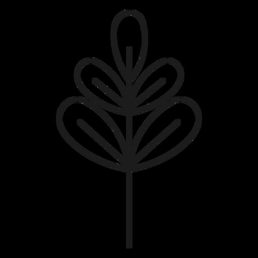 Rama con icono de hojas palmadas. Transparent PNG