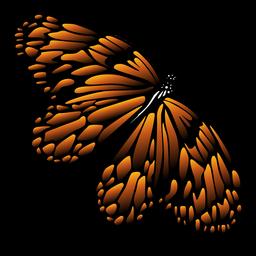 Borboleta em borboleta de ícone de voo