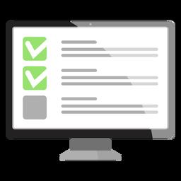 Opção de caixa de seleção no ícone da tela do computador