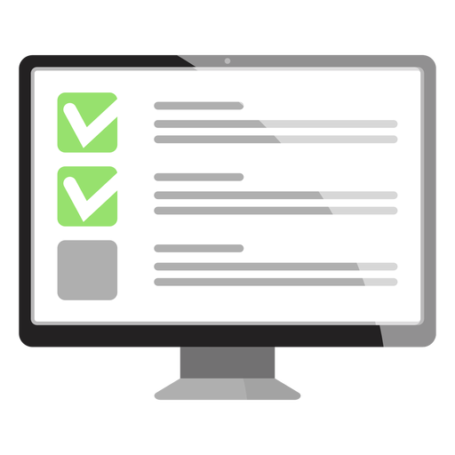 Checkbox option on computer screen icon Transparent PNG