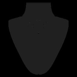 Gargantilla collar icono negro