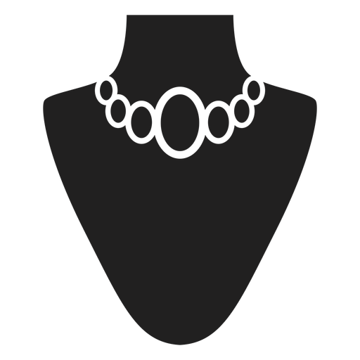 Choker necklace black icon Transparent PNG