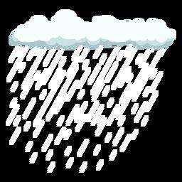 Vector de nube y lluvia de cirro