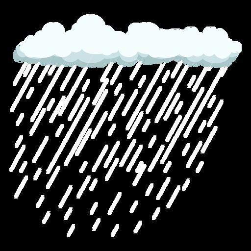 Cirrus cloud and rain vector