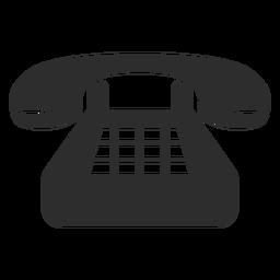 Icono de teléfono fijo clásico