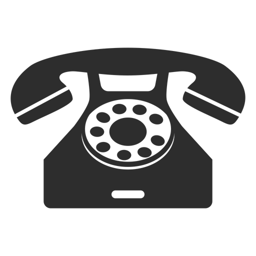 Classical rotary phone Transparent PNG