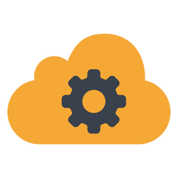 Cloud gear icon