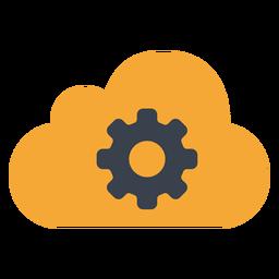 Icono de engranaje de nube