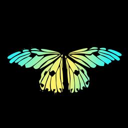 Desenho de borboleta jardim colorido