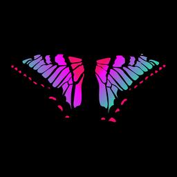 Vetor de borboleta colorida