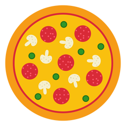 Design de pizza inteira colorida