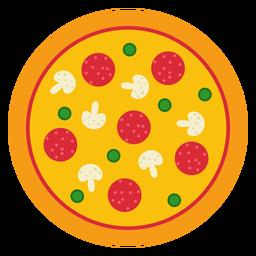 Design de pizza inteira colorida