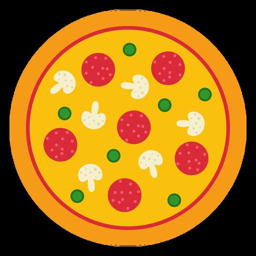 Colorido diseño de pizza entera. Transparent PNG