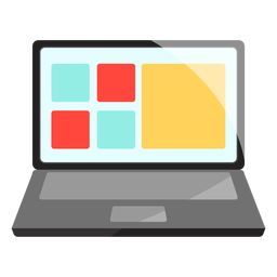 Computer laptop icon