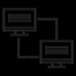 Ícone de transferência de link de computador