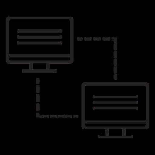 Ícone de transferência de link de computador Transparent PNG