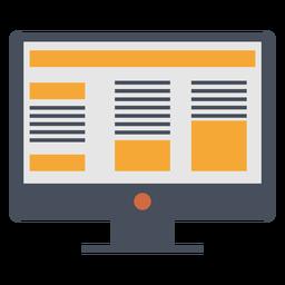 Ícone de marketing de computador