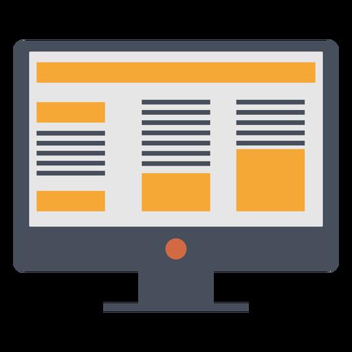 Ícone de marketing de computador Transparent PNG