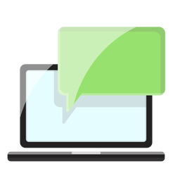 Computer messaging icon