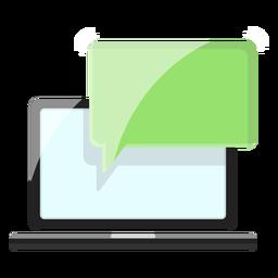 Ícone de mensagens do computador