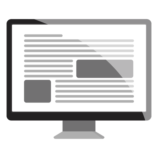 Computer monitor icon Transparent PNG
