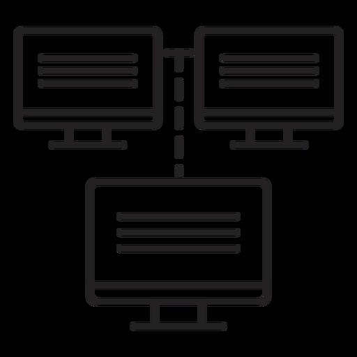 Ícone de rede de computador Transparent PNG
