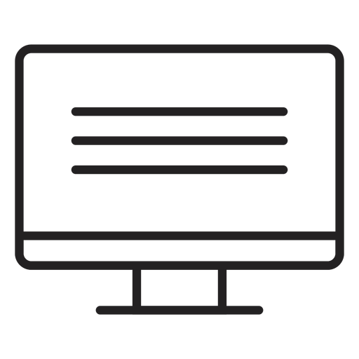 Computer screen monitor icon Transparent PNG