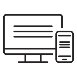 Computer web and mobile icon