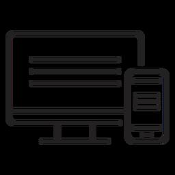 Web de computador e ícone móvel