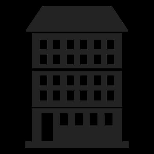 Condominio edificio icono negro Transparent PNG